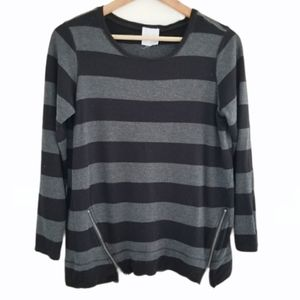 🎃 Sunday Striped Long Sleeve Top Size M